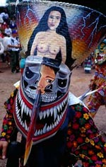 Sticky Rice and Coconut Husk Mask for the Phi Ta Khon Festival, Loei, Thailand / Image by Joe Cummings